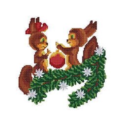 Christmas-squirrel4 embroidery design