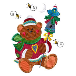 Christmas Teddy embroidery design