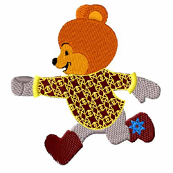 Dancing Bear embroidery design