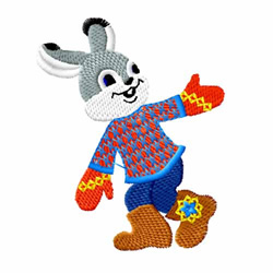 Dancing Bunny embroidery design