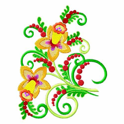 Fantasy Flowers-02 embroidery design