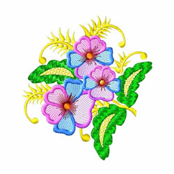 Fantasy Flowers-05 embroidery design