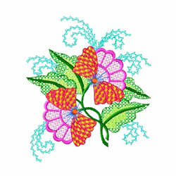 Fantasy Flowers-06 embroidery design
