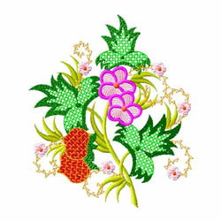 Fantasy Flowers-07 embroidery design