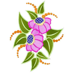 Fantasy Flowers-09 embroidery design