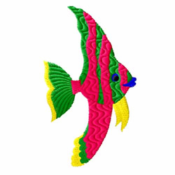 Green Fish embroidery design
