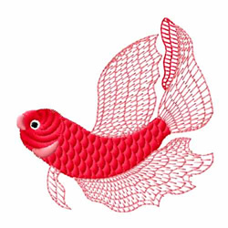 Red Fish embroidery design