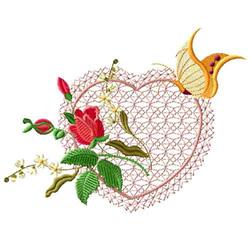 Rose Romance 1 embroidery design