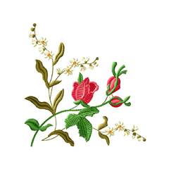 Rose Romance 5 embroidery design