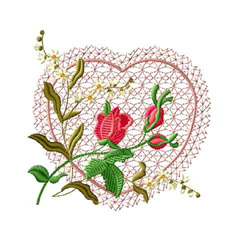 Rose Romance 6 embroidery design