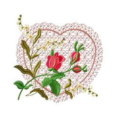 Rose Romance 6 embroidery design