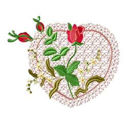 Rose Romance 9 embroidery design
