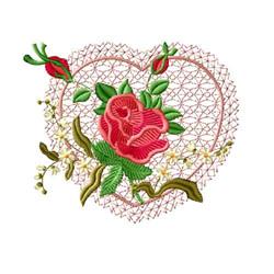 Rose Romance 10 embroidery design