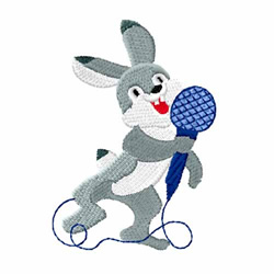 Singing Bunny embroidery design
