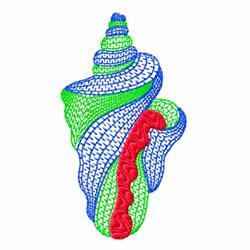 Striped Conch Shell embroidery design