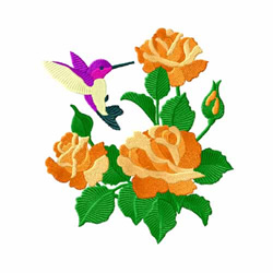 Yellow Roses 2 embroidery design