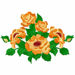 Yellow Roses 6 embroidery design