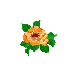 Yellow Roses 7 embroidery design