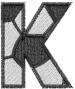 Soccerball  Letter K embroidery design