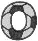 Soccerball  Letter O embroidery design