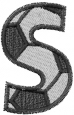 Soccerball  Letter S embroidery design