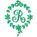 Monogram R embroidery design