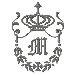 Regal Monogram M embroidery design