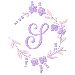 Floral Monogram S embroidery design