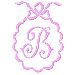 Scalloped Monogram B embroidery design