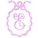 Scalloped Monogram E embroidery design
