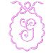 Scalloped Monogram G embroidery design