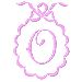 Scalloped Monogram O embroidery design
