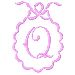 Scalloped Monogram Q embroidery design