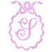Scalloped Monogram S embroidery design