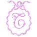 Scalloped Monogram T embroidery design