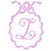 Scalloped Monogram Z embroidery design