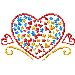 Valentines Heart embroidery design