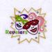 Mardi Gras Revelers embroidery design