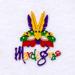 Mardi Gras embroidery design