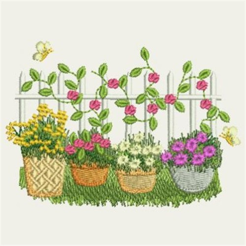 Garden fence embroidery designs machine embroidery for Garden embroidery designs free