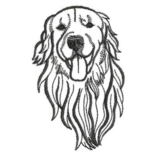 Line Drawing Golden Retriever : Ace points embroidery design golden retriever inches