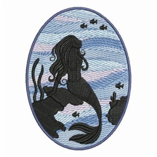 Mermaid fish embroidery designs machine