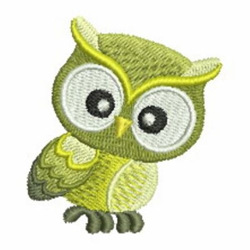 Green owl embroidery designs machine
