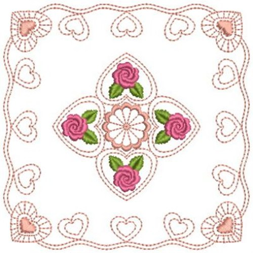 Rose outline quilt embroidery designs machine