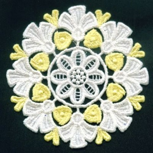 Fsl yellow roses embroidery designs machine