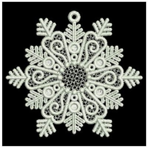 FSL Snowflakes Embroidery Designs Machine Embroidery