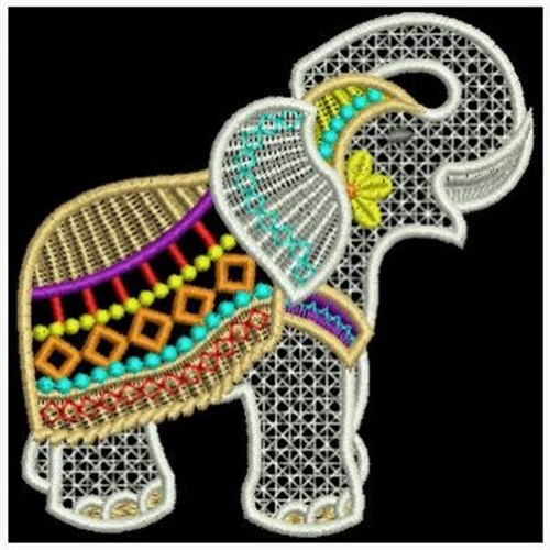 Indian Elephant Embroidery Designs Machine Embroidery Designs At