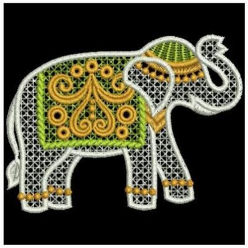 Indian Elephant Embroi...
