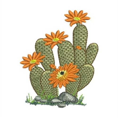 Cactus flowers embroidery designs machine