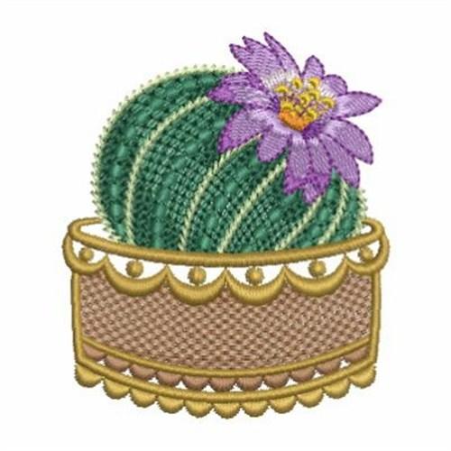 Cactus flower embroidery designs machine